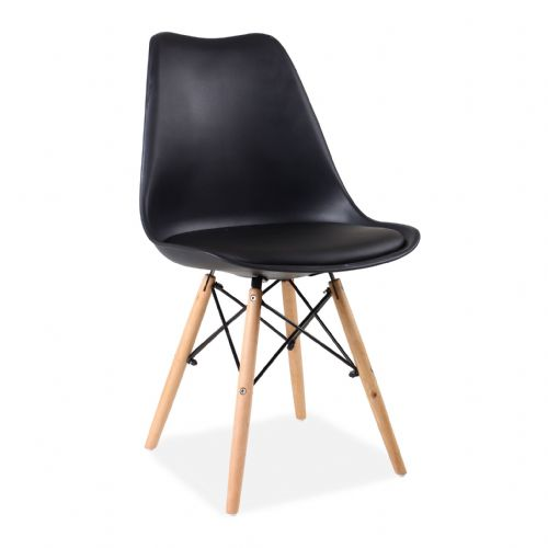x4 Tulip Eiffel Dining Chairs, Black